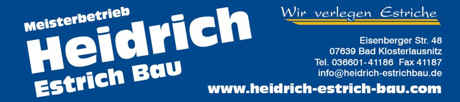 Heidrich Estrich Bau, Bad Klosterlausnitz, Estrich